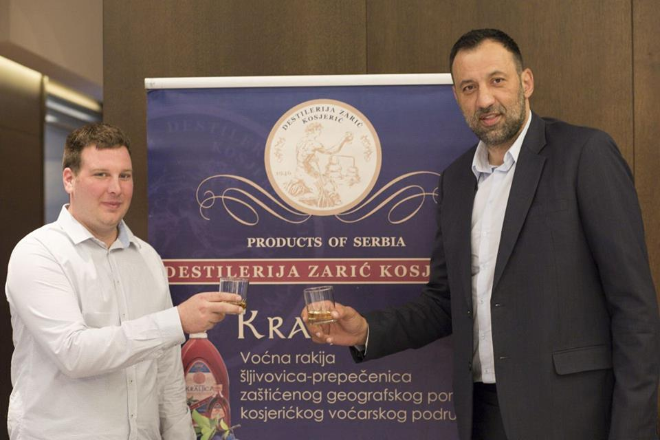 Vlade Divac presented the Zaric Distillery